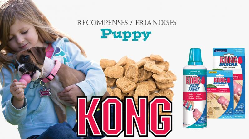 Friandises puppy kong