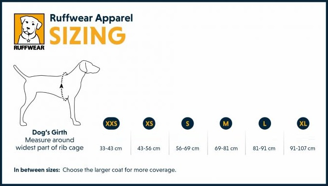 Ruffwear apparel sizing 5